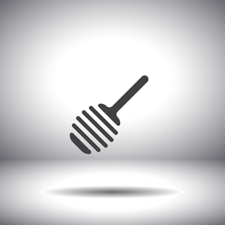 honey spoon vector icon Vector