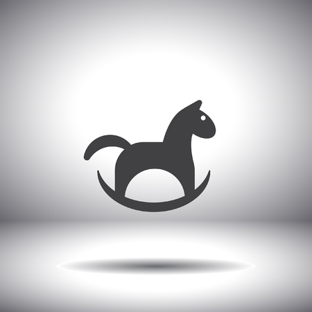 horse toy vector icon Illustration