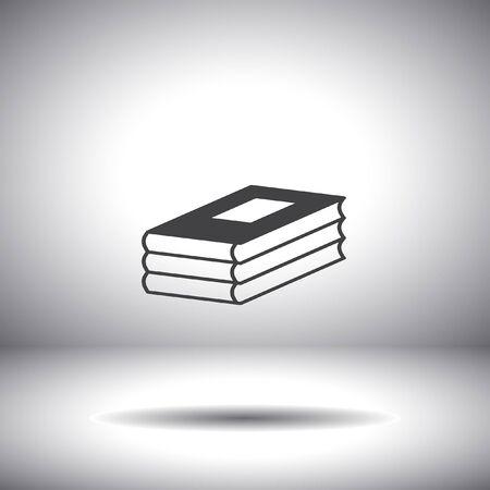 three books vector icon Vector