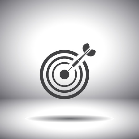 target with dart icon Vector