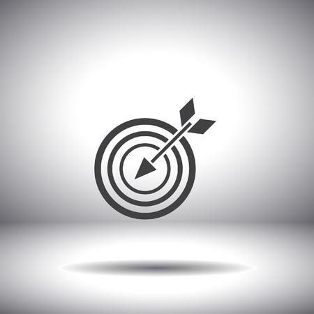 target with arrow vector icon Vector