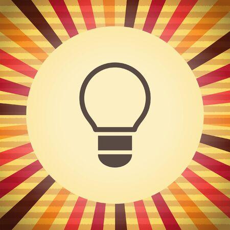 lightbulb vector icon Vector
