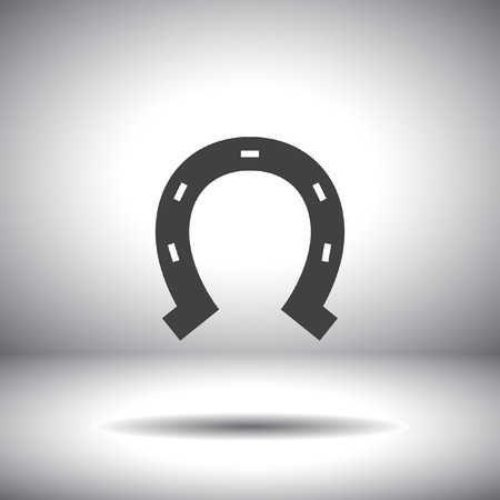 horseshoe vector icon Vector