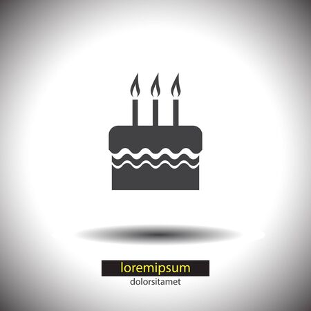 birthday cake vector icon Vector