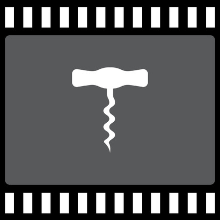 bottle screw: corkscrew vector icon