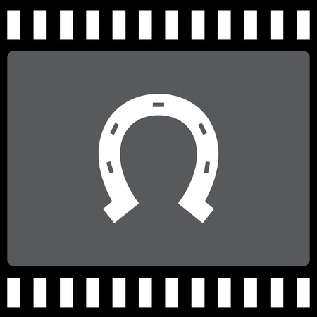 horseshoe vector icon Vector