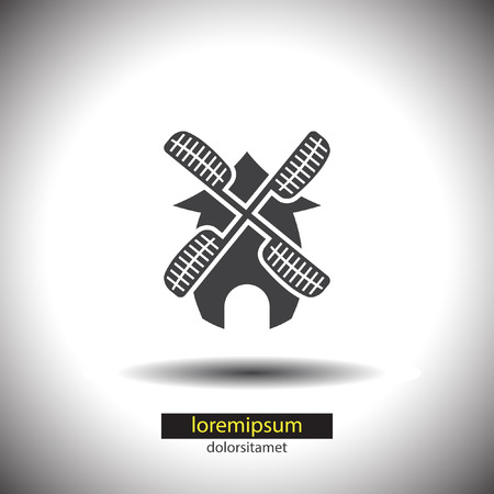 windmill vector icon Vector