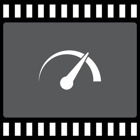 gauge: gauge speedometer vector icon Illustration
