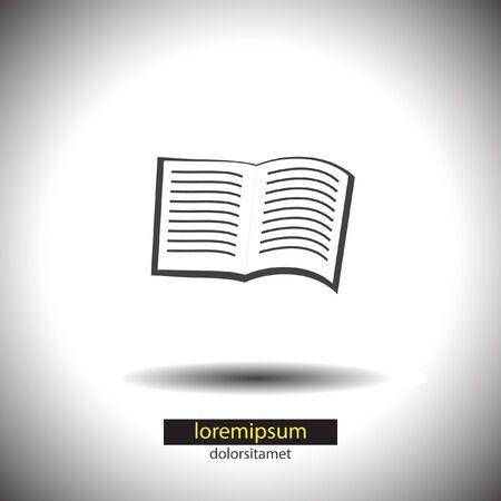 read magazine: open book vector icon Illustration