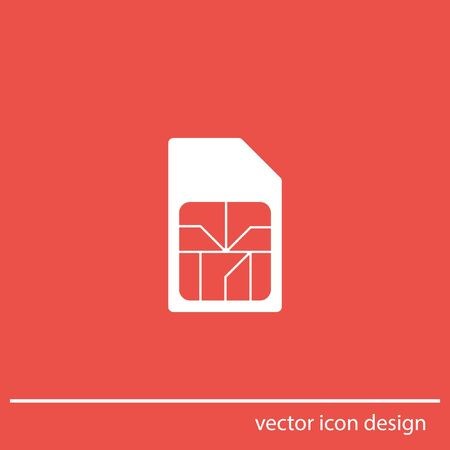 sim card vector icon Vector