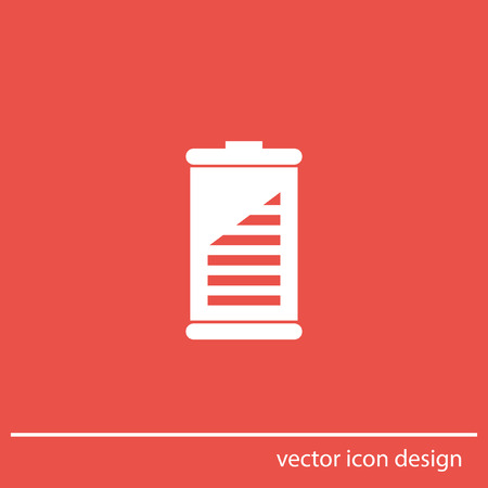 recharge: battery vector icon