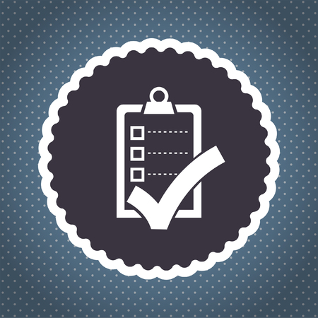check list with ok sign vector icon Vector