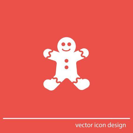 gingerbread cake: gingerbread vector icon Stock Photo