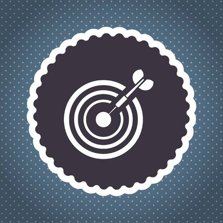 target with dart vector icon photo