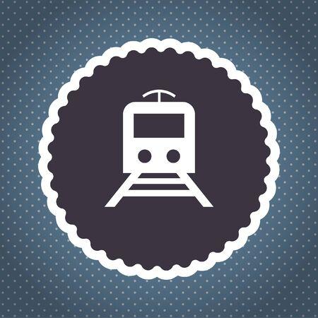 subway: subway metro vector icon Stock Photo