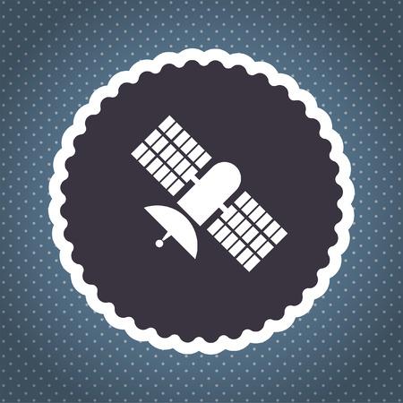 satellite vector icon photo