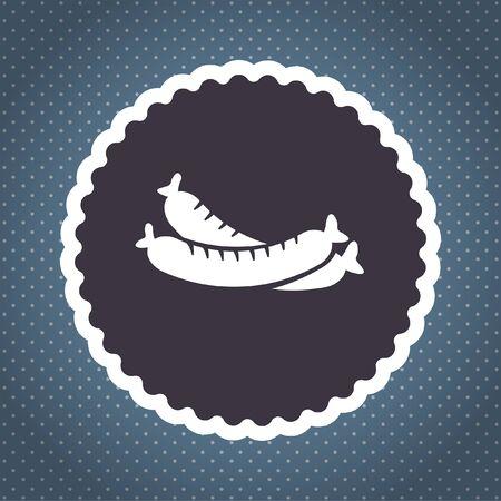 sausage vector icon photo