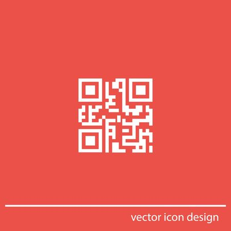 qr code vector icon photo