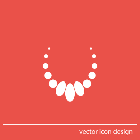 peal: necklace vector icon Stock Photo
