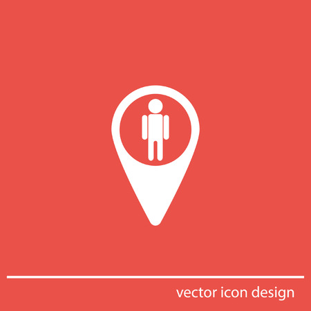 map pin street view vector icon photo