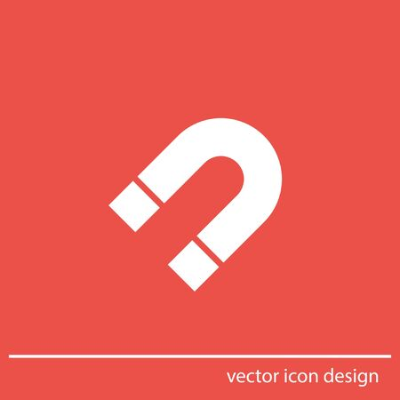 magnetism: magnet vector icon Stock Photo