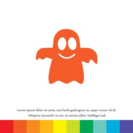 fear cartoon: ghost vector icon