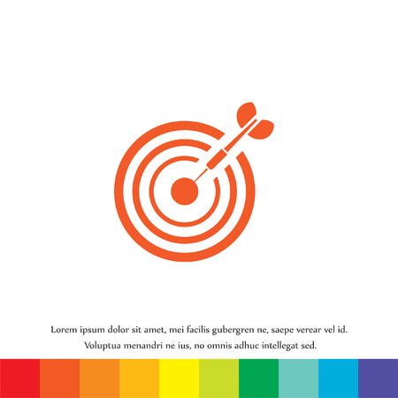 target with dart vector icon