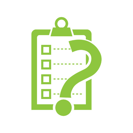 check list with question mark vector icon