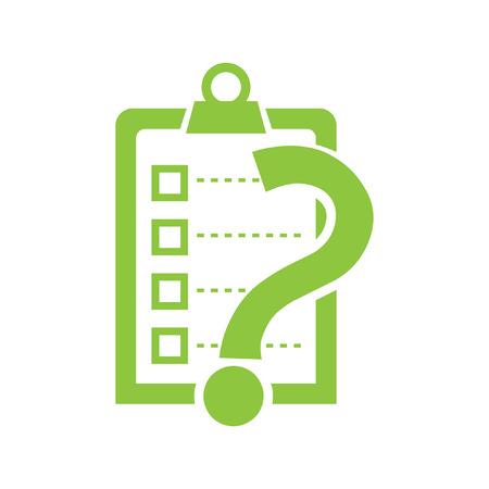 vector icone: liste avec interrogation vecteur ic�ne v�rifier