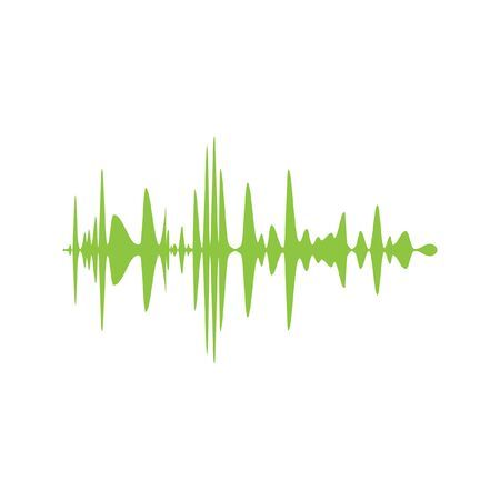 soundwave: audio signal vector icon Illustration