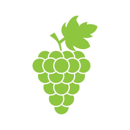 grapes: icono de vector de uva