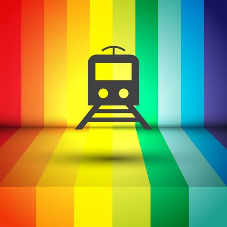 metro: subway metro vector icon Illustration