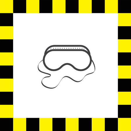 safety goggles: safety work glasses vector icon