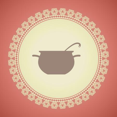 cocinar icono pote vector Ilustración de vector