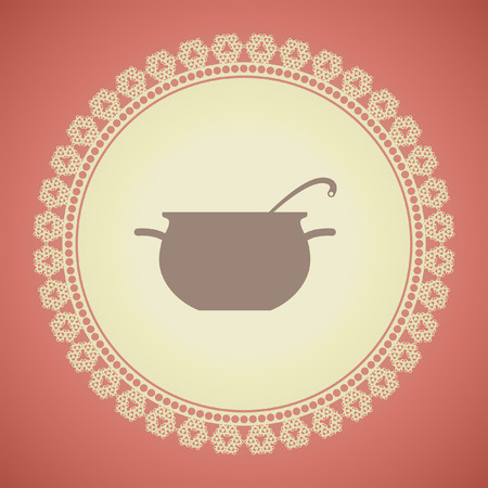 cuisson vecteur pot icône Vecteurs