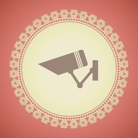 cam�ra surveillance: surveillance de la s�curit� vecteur ic�ne de cam�ra