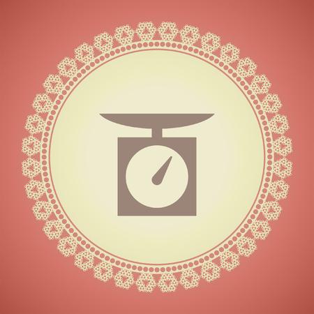 kilograms: kitchen scales vector icon