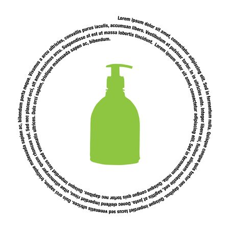 household detergent cleaning bottle vector icon Illustration