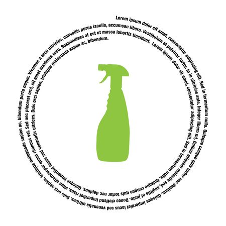 chemical cleaning: household cleaning bottle vector icon