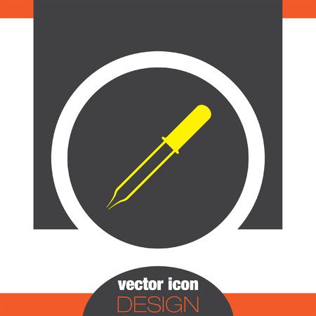pipette: icono de vector pipeta