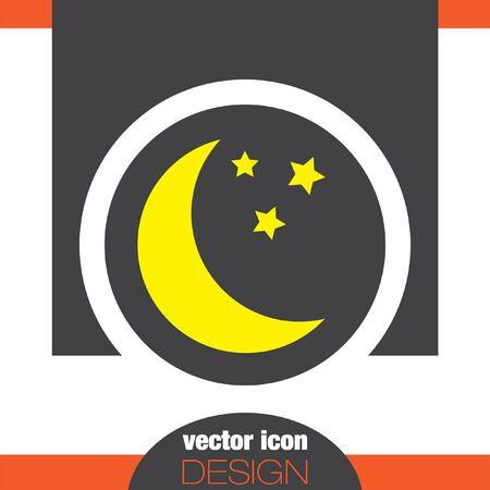 moon: moon vector icon