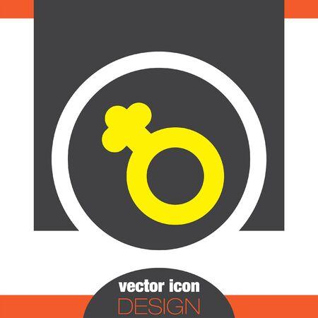 gender: female gender symbol vector icon