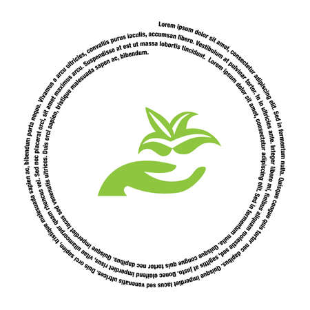 plant hand: hand holding plant vector icon