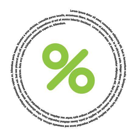 prozentzeichen: Prozent-Zeichen Vektor-Symbol