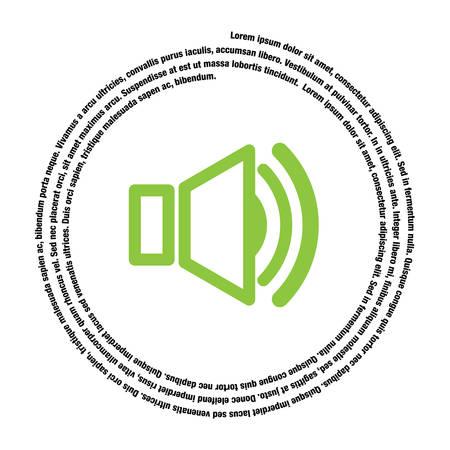 symbol vector: speaker symbol vector icon