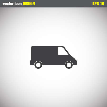 commercial: commercial van vector icon