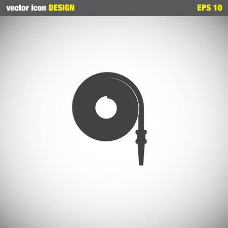 fire hose: fire hose vector icon Illustration