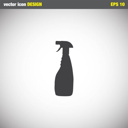 cleaning products: limpieza del hogar icono de la botella vector Vectores