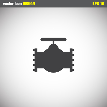faucet water: industry valve vector icon