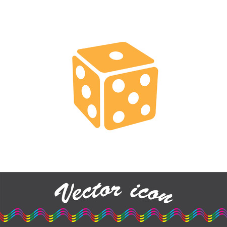 games of chance: gambling dice vector icon